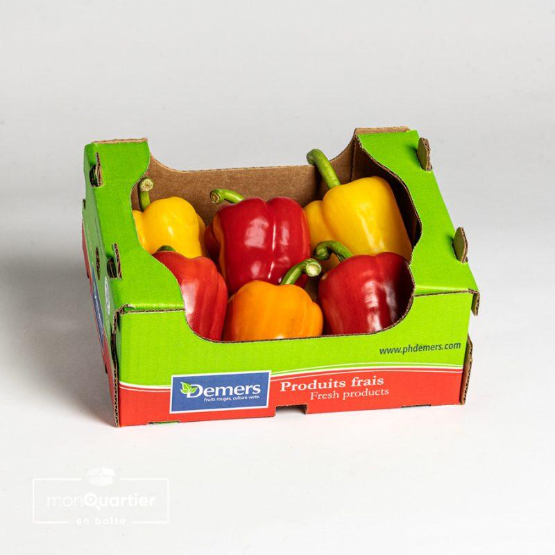 Caissette de poivrons