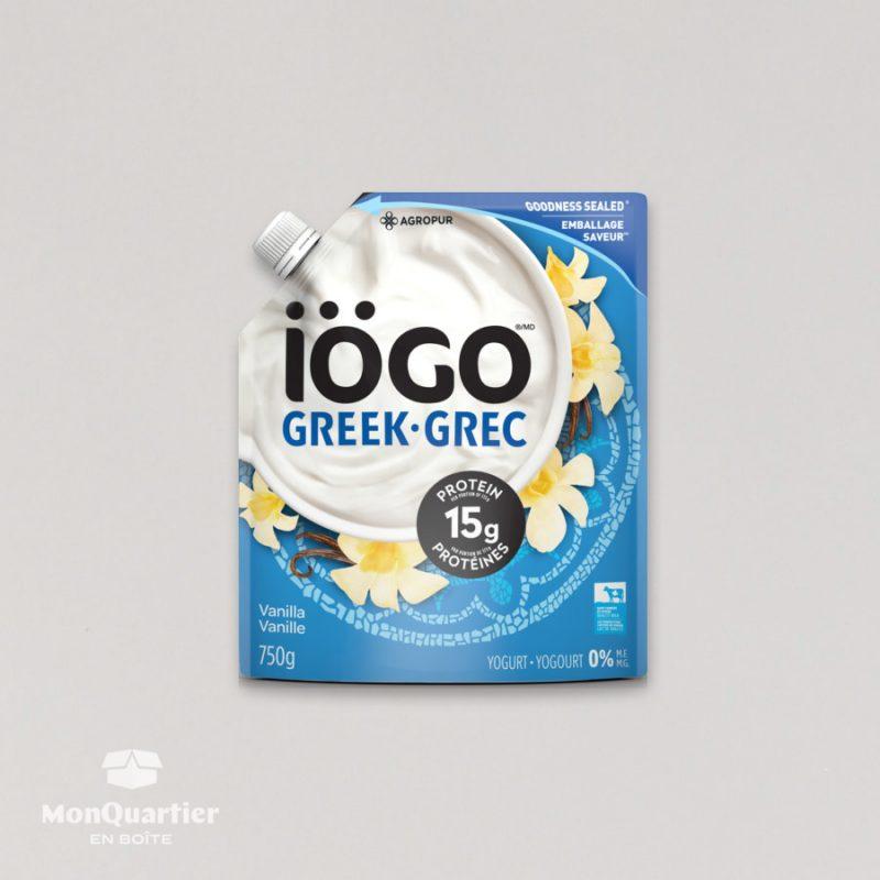 Yogourt Grec iogo 0% vanille