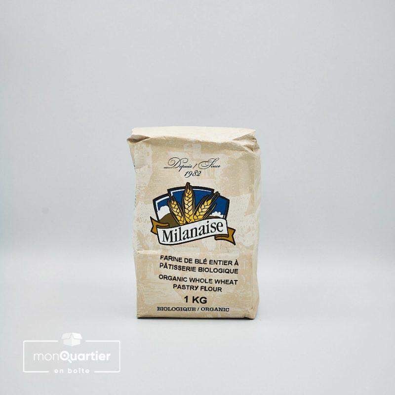 Farine de blé entier bio à pâtisserie