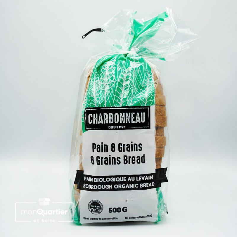 Pain 8 grains tranché biologique