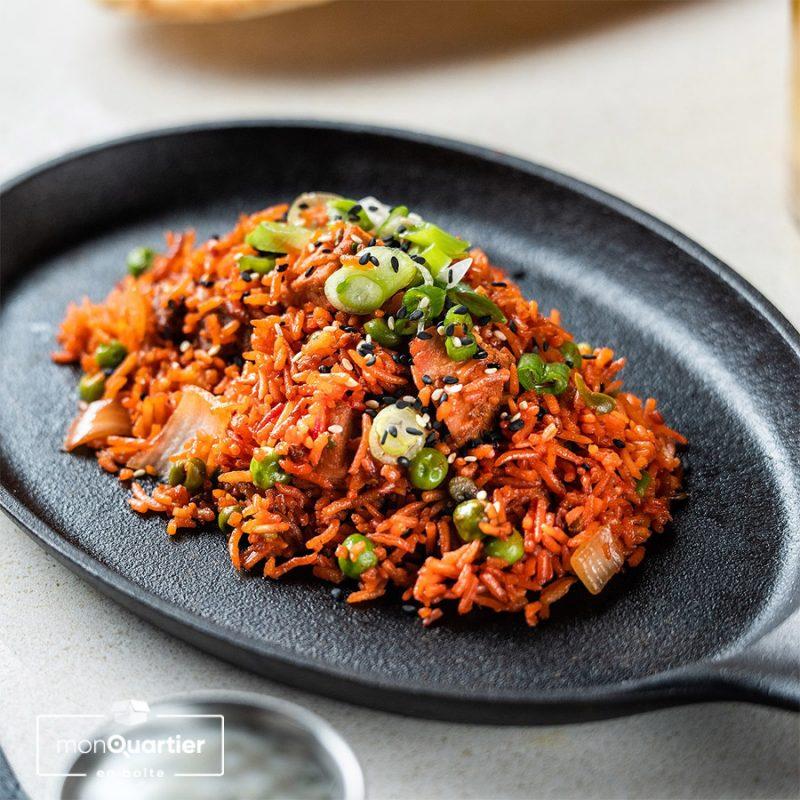 Riz frit au porc tandoori