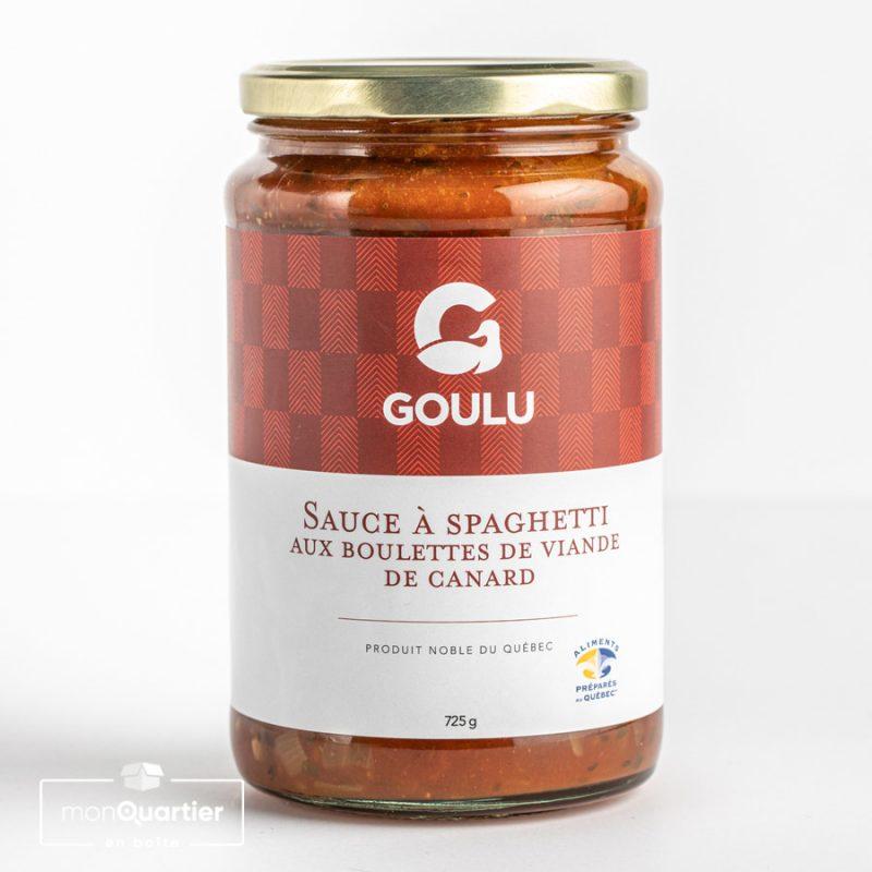 Sauce à spaghetti aux boulettes de viande de canard