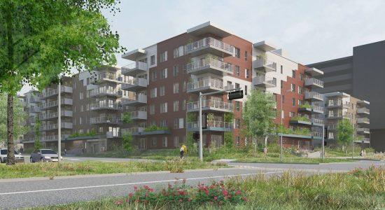Axcès Trigone Destimo : 192 logements s'ajoutent dans l'écoquartier D'Estimauville - Jean Cazes