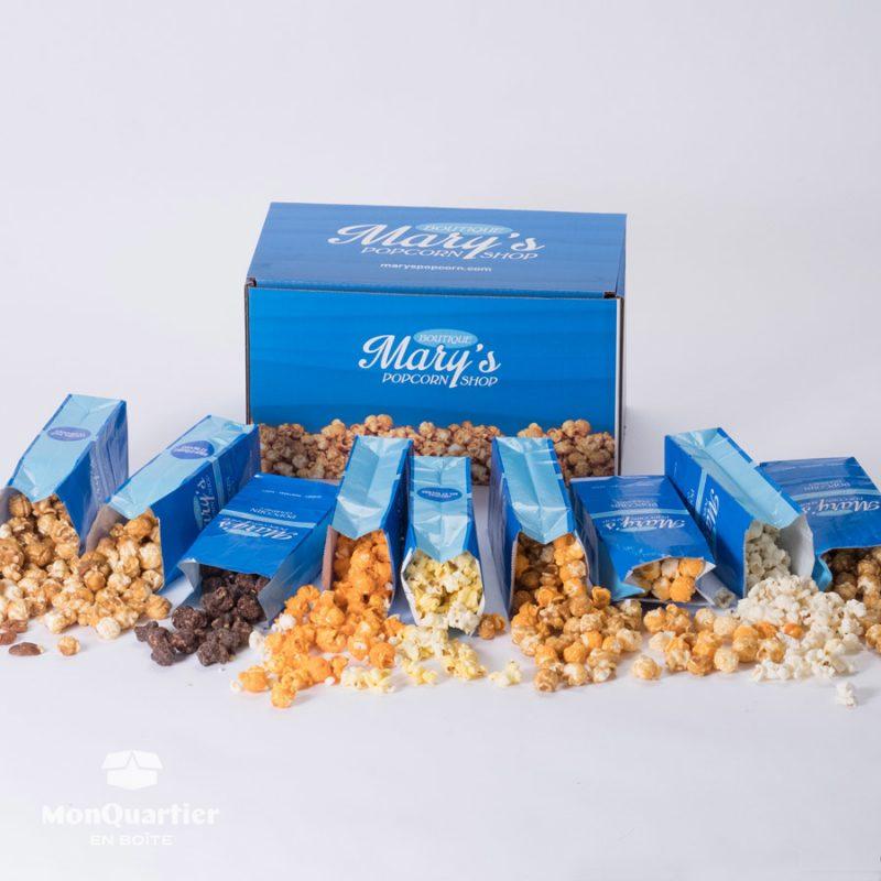 Boîte Mary's Popcorn
