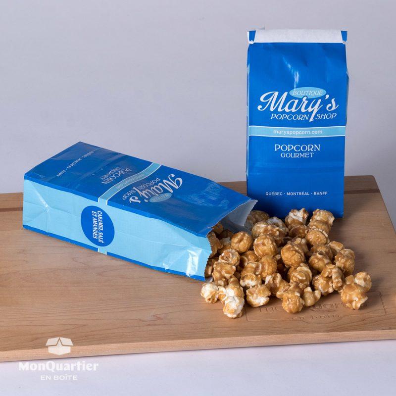 Popcorn caramel salé et amandes