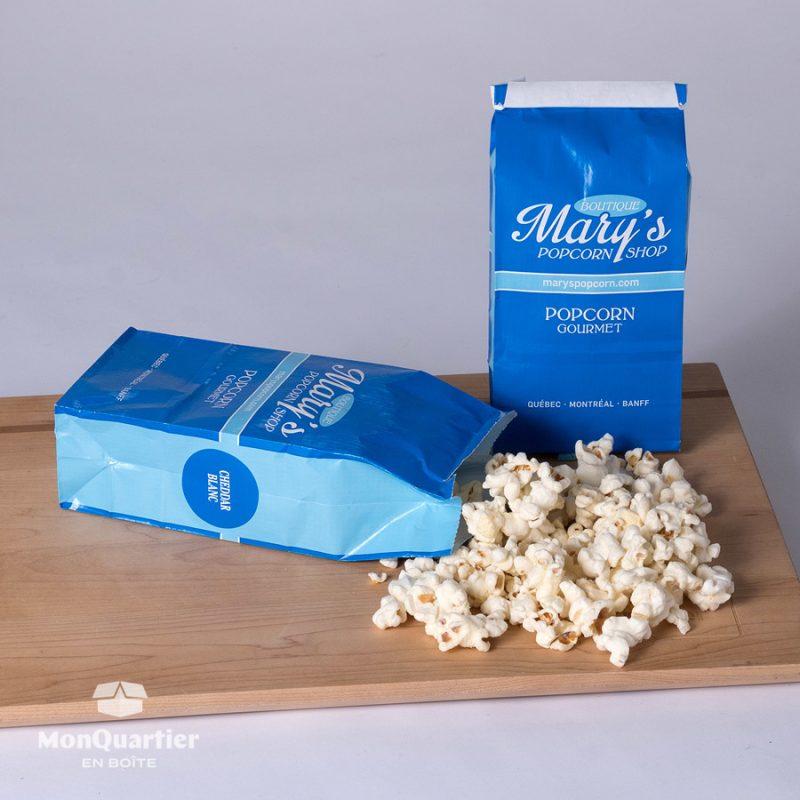 Popcorn cheddar blanc