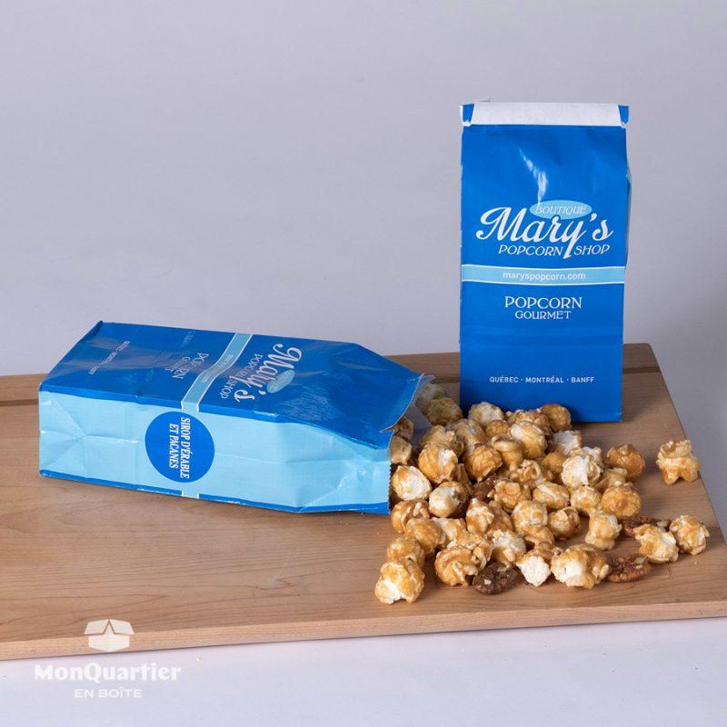 Popcorn sirop d'érable et pacanes