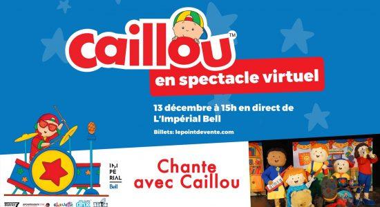 Caillou en spectacle virtuel en direct – Chante avec Caillou!