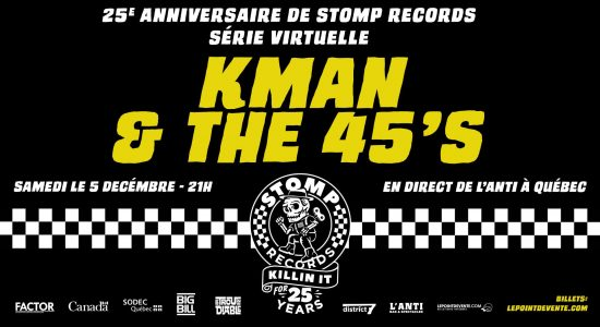 Kman and The 45s – Concert virtuel