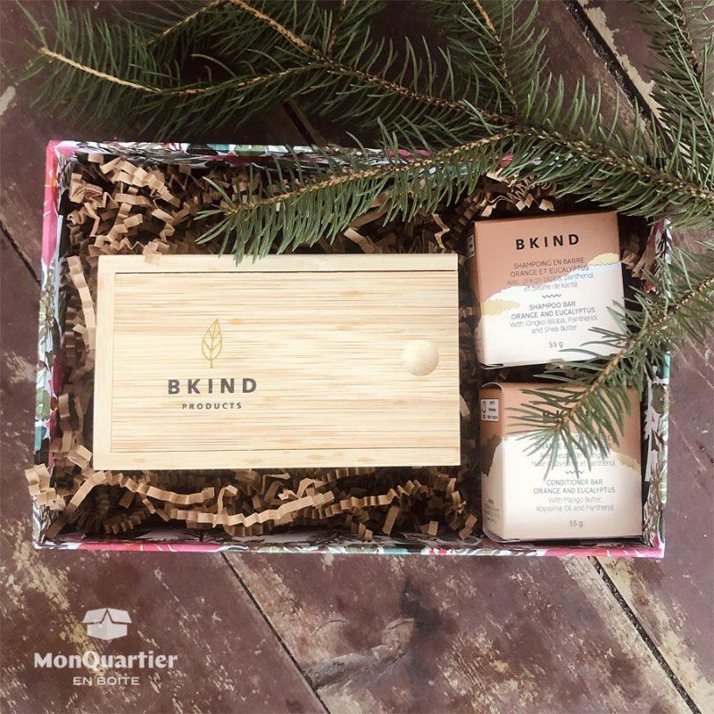Boîte cadeau «soins capillaires» BKIND