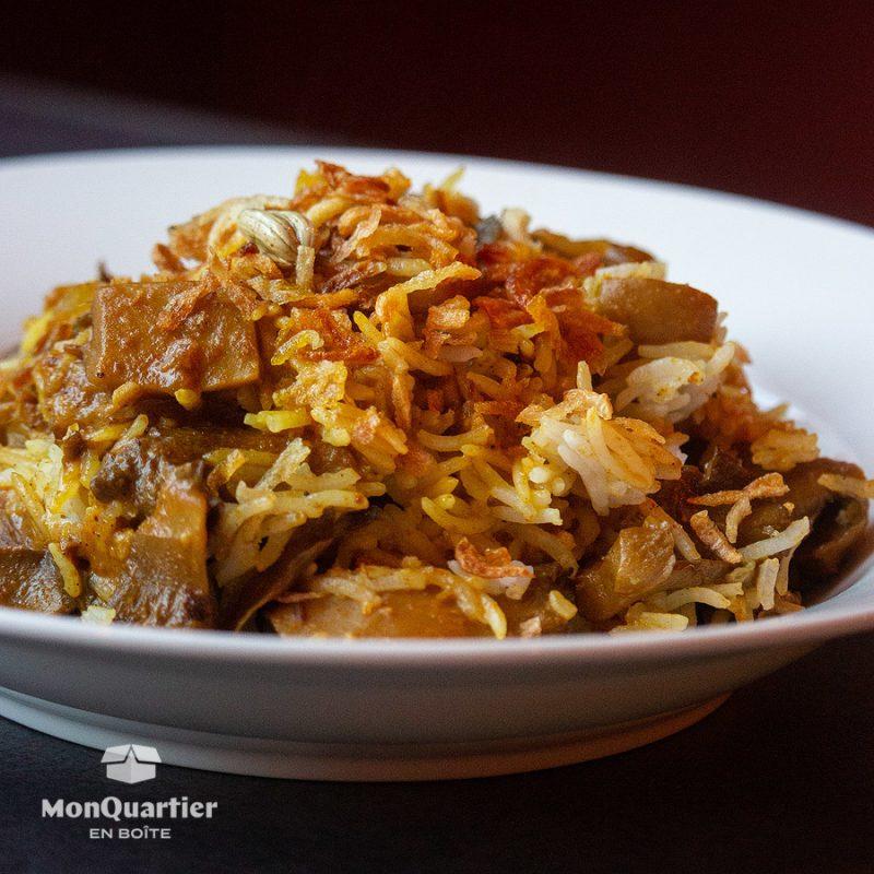 Biryani aux champignons