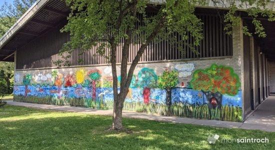 Place du Parvis, Jeunes muralistes : de nouvelles couleurs citoyennes - Suzie Genest