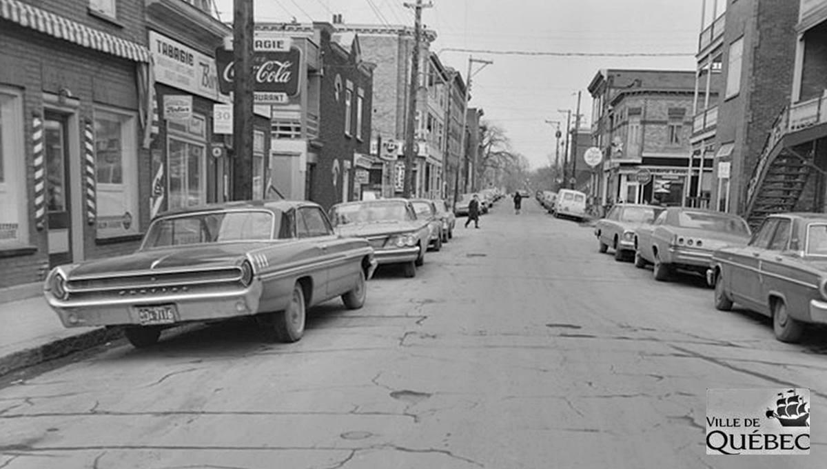 Montcalm dans les années 1960 : rue Crémazie Ouest, près de l'avenue Cartier - Jean Cazes