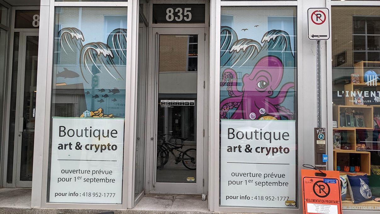 Une boutique sans nom pour l'art et les cryptomonnaies - Suzie Genest