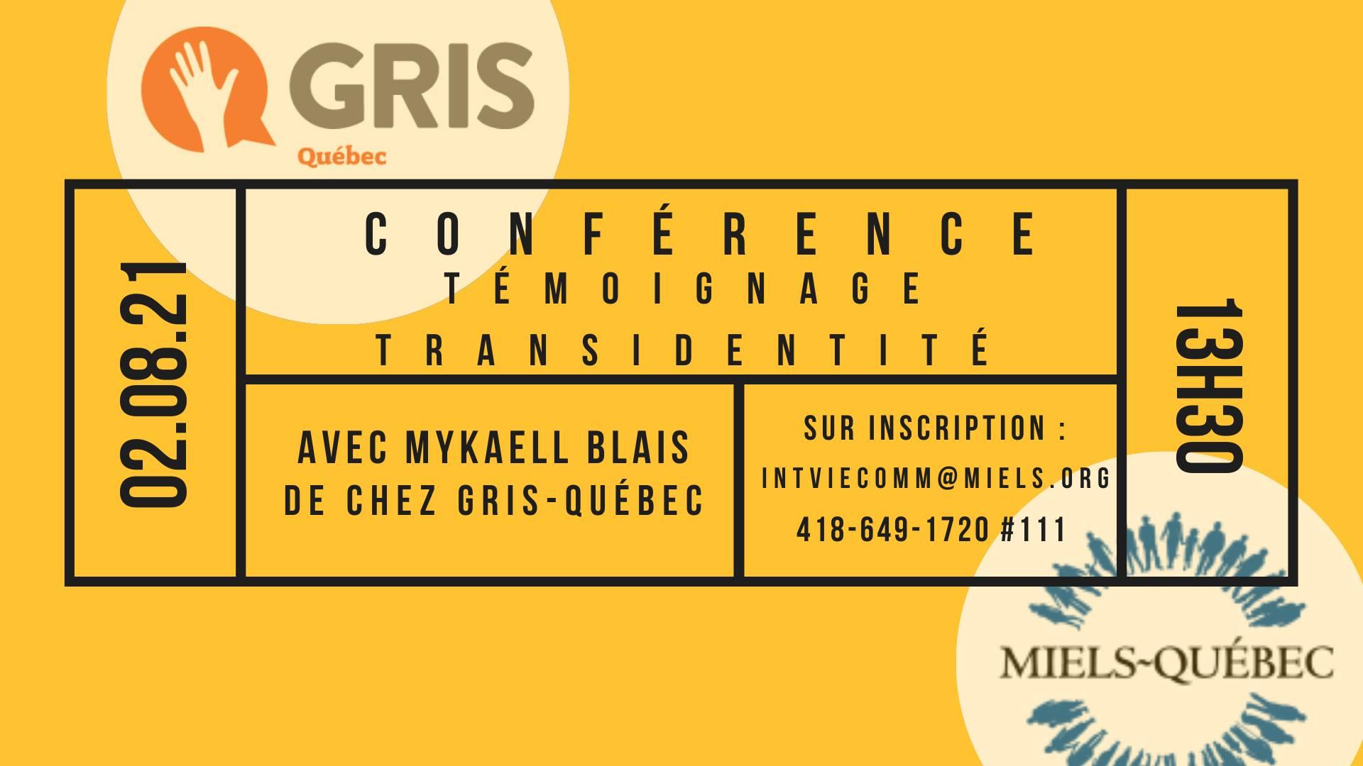 Conférence témoignage sur la trans-identité