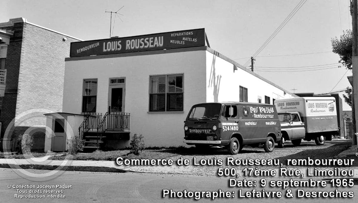 Limoilou dans les années 1960 (141) : le rembourreur Louis Rousseau - Jean Cazes