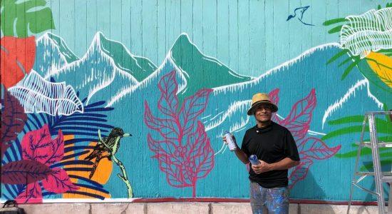Murale tropicale sur le nouveau café colombien Tintico - Viktoria Miojevic